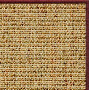 Spice Sisal Rug With Serged Border Color 11989