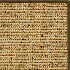 Spice Sisal Rug with Serged Border (Color 522)