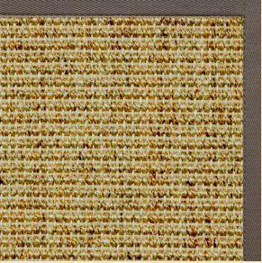 Spice Sisal Rug with Silver Shadow Cotton Border