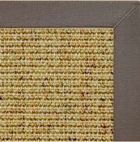 Spice Sisal Rug with Silver Shadow Cotton Border - Free Shipping