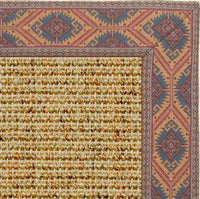 Spice Sisal Rug with Southwest Tapestry Border - Free Shipping