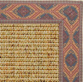 Spice Sisal Rug with Southwest Tapestry Border