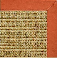 Spice Sisal Rug with Spice Cotton Border - Free Shipping
