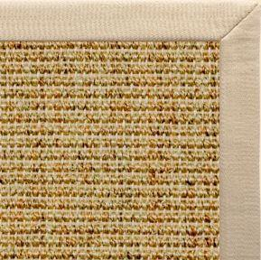 Spice Sisal Rug with Taupe Linen Border