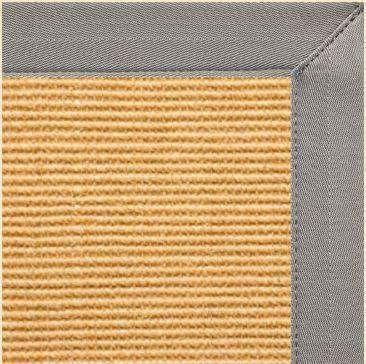 Tan Sisal Area Rug with Coin Canvas Border