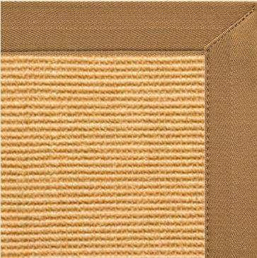 Tan Sisal Rug with Adobe Brown Canvas Border - Free Shipping