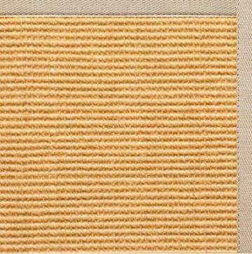 Tan Sisal Rug with Alabastor Beige Cotton Border - Free Shipping