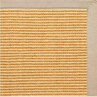 Tan Sisal Rug with Alabastor Beige Cotton Border
