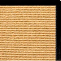 Tan Sisal Rug with Black Canvas Border - Free Shipping