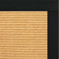Tan Sisal Rug with Black Canvas Border