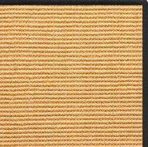 Tan Sisal Rug with Black Serged Border