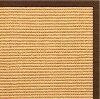 Tan Sisal Rug with Bronze Cotton Border