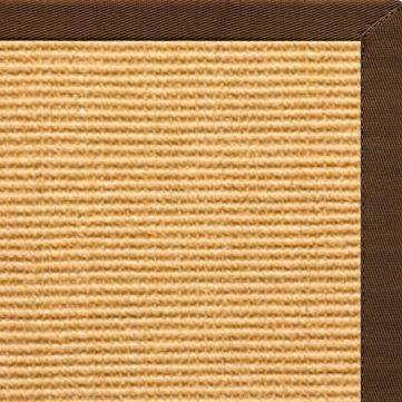 Tan Sisal Rug with Bronze Cotton Border - Free Shipping