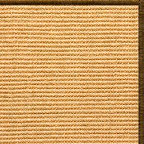 Tan Sisal Rug with Brown Serged Border (Color 1048) - Free Shipping