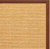 Tan Sisal Rug with Burnt Sienna Cotton Border - Free Shipping