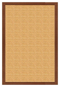 Area Rugs - Sustainable Lifestyles Tan Sisal Rug With Burnt Sienna Cotton Border