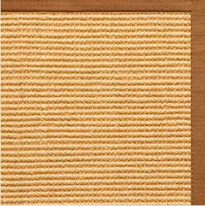 Tan Sisal Rug with Caramel Cotton Border - Free Shipping