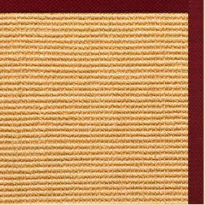 Tan Sisal Rug with Cardinal Red Cotton Border