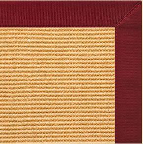 Area Rugs - Sustainable Lifestyles Tan Sisal Rug With Cardinal Red Cotton Border