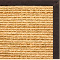 Tan Sisal Rug with Cocoa Bean Cotton Border - Free Shipping