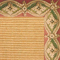 Tan Sisal Rug with Della Tapestry Border - Free Shipping