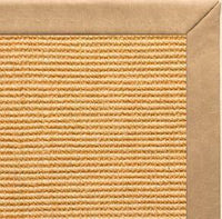Tan Sisal Rug with Desert Faux Leather Border - Free Shipping