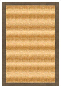 Area Rugs - Sustainable Lifestyles Tan Sisal Rug With Eucalyptus Cotton Border
