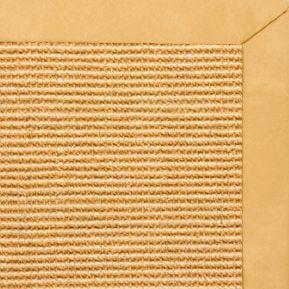 Tan Sisal Rug with Gold Faux Leather Border