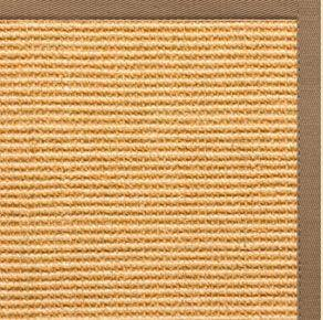 Tan Sisal Rug with Harvest Haze Cotton Border