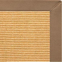 Tan Sisal Rug with Harvest Haze Cotton Border - Free Shipping