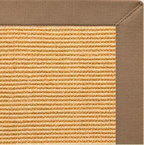 Area Rugs - Sustainable Lifestyles Tan Sisal Rug With Harvest Haze Cotton Border