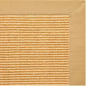 Tan Sisal Rug with Honeycomb Cotton Border - Free Shipping