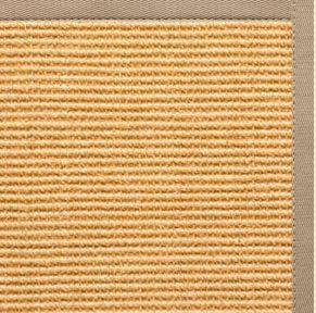 Tan Sisal Rug with Ivory Blush Cotton Border