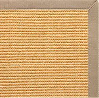 Tan Sisal Rug with Ivory Blush Cotton Border - Free Shipping