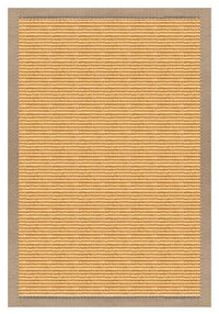 Area Rugs - Sustainable Lifestyles Tan Sisal Rug With Ivory Blush Cotton Border
