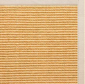 Tan Sisal Rug with Ivory Cotton Border