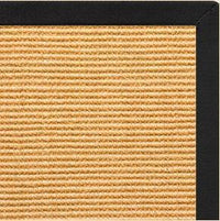 Tan Sisal Rug with Lava Cotton Border - Free Shipping