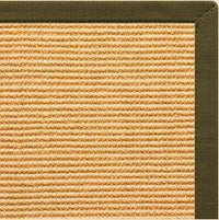 Tan Sisal Rug with Lichen Cotton Border - Free Shipping