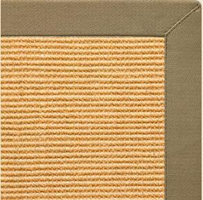 Tan Sisal Rug with Oat Straw Cotton Border - Free Shipping