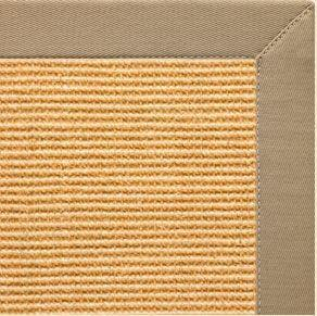 Tan Sisal Rug with Oatmeal Cotton Border - Free Shipping