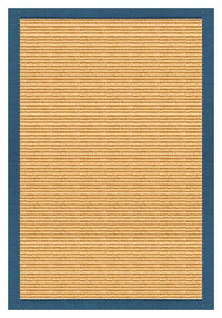 Area Rugs - Sustainable Lifestyles Tan Sisal Rug With Paradise Blue Cotton Border