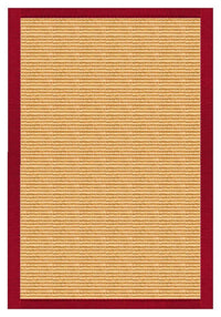 Area Rugs - Sustainable Lifestyles Tan Sisal Rug With Poppy Cotton Border
