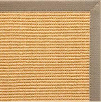 Tan Sisal Rug with Putty Canvas Border - Free Shipping