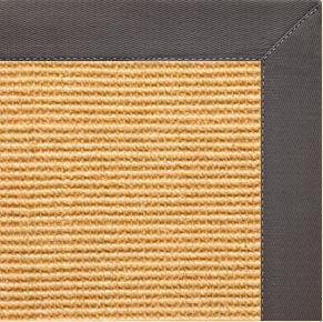 Tan Sisal Rug with Quarry Cotton Border - Free Shipping