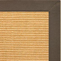 Tan Sisal Rug with Rye Cotton Border - Free Shipping