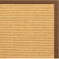 Tan Sisal Rug with Sahara Cotton Border - Free Shipping