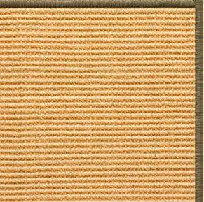 Tan Sisal Rug with Serged Border (Color 10639) - Free Shipping