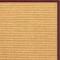 Tan Sisal Rug with Serged Border (Color 11989) - Free Shipping