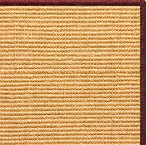 Tan Sisal Rug with Serged Border (Color 11989)