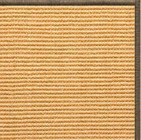 Tan Sisal Rug with Serged Border (Color 29024)